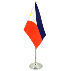 Philippines Satin Table Flag 6x9""