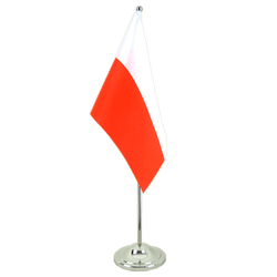 Poland - Satin Table Flag 6x9""