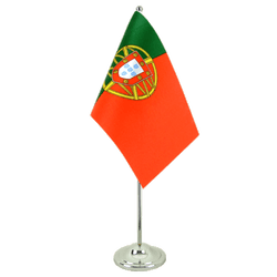 Portugal  Satin Table Flag 6x9""