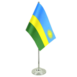Rwanda - Satin Table Flag 6x9""