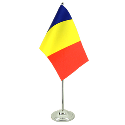 Drapeau de table prestige Roumanie 15 x 22 cm
