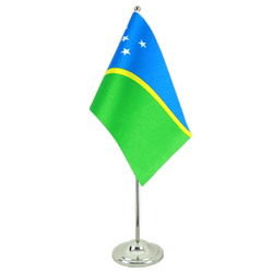 Solomon Islands Satin Table Flag 6x9""