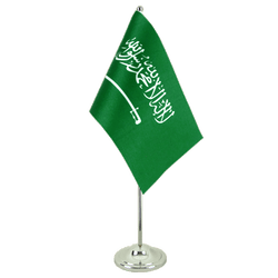 Saudi Arabia Satin Table Flag 6x9""
