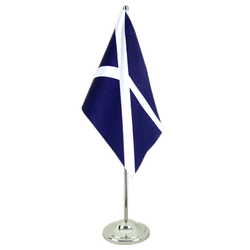 Drapeau de table prestige Ecosse navy - 15 x 22 cm