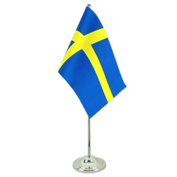 Sweden Satin Table Flag 6x9""
