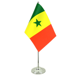 Drapeau de table prestige Sénégal 15 x 22 cm