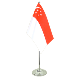 Singapore - Satin Table Flag 6x9""