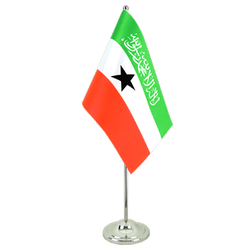 Somaliland Satin Table Flag 6x9""