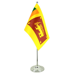Sri Lanka - Satin Table Flag 6x9""