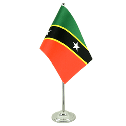 Saint Kitts and Nevis Satin Table Flag 6x9""