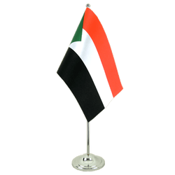 Sudan Satin Table Flag 6x9""