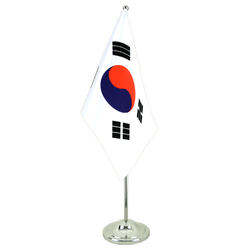 South Korea - Satin Table Flag 6x9""