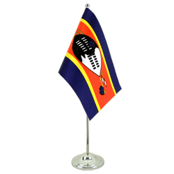 Swaziland Satin Table Flag 6x9""