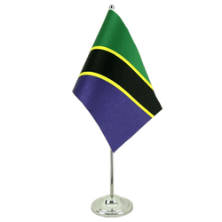 Tanzania  Satin Table Flag 6x9""