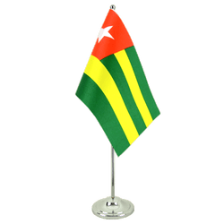 Drapeau de table prestige Togo 15 x 22 cm