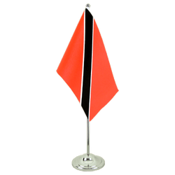 Trinidad and Tobago Satin Table Flag 6x9""