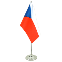 Czech Republic Satin Table Flag 6x9""