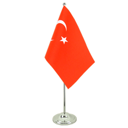 Turkey Satin Table Flag 6x9""