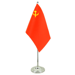 USSR Soviet Union - Satin Table Flag 6x9""