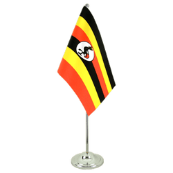 Uganda  Satin Table Flag 6x9""