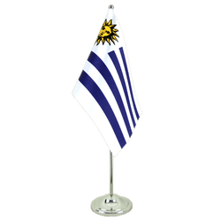 Uruguay Satin Table Flag 6x9""