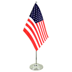 USA Satin Table Flag 6x9""