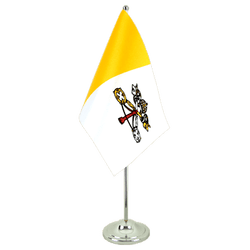 Vatican - Satin Table Flag 6x9""