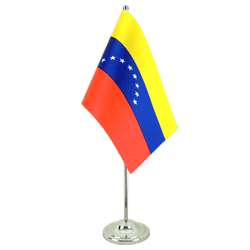 Venezuela 8 stars Satin Table Flag 6x9""