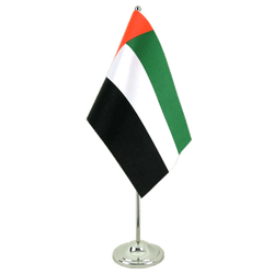 Drapeau de table prestige Émirats Arabes Unis - 15 x 22 cm