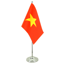 Vietnam - Satin Table Flag 6x9""