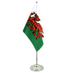Wales Satin Table Flag 6x9""