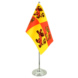 Wales Royal Owain Glyndwr Satin Table Flag 6x9""