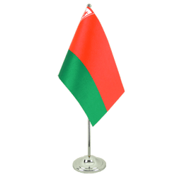 Belarus Satin Table Flag 6x9""