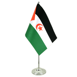Western Sahara - Satin Table Flag 6x9""