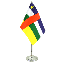 Drapeau de table prestige République Centralafricaine 15 x 22 cm