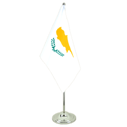 Cyprus - Satin Table Flag 6x9""