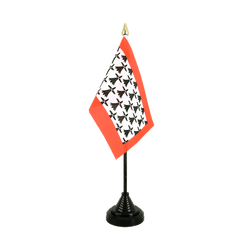 Mini drapeau de table Limousin - 10 x 15 cm