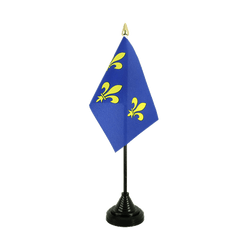 Mini drapeau de table Île-de-France - 10 x 15 cm