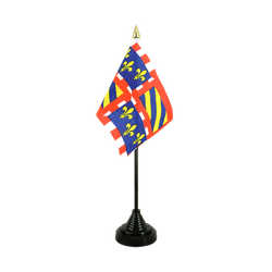 Mini drapeau de table Bourgogne - 10 x 15 cm