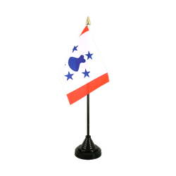 Mini drapeau de table îles Australes - 10 x 15 cm