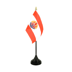 French Polynesia Table Flag 4x6""
