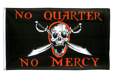 Pirat No Quarter No Mercy Flagge 90 x 150 cm