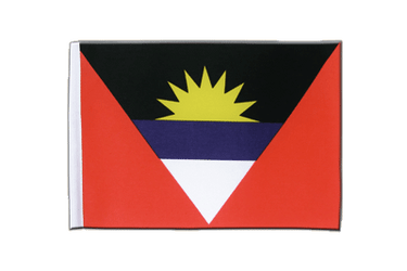 Antigua und Barbuda Satin Flagge 15 x 22 cm