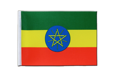 Ethiopia with star Satin Flag 6x9""