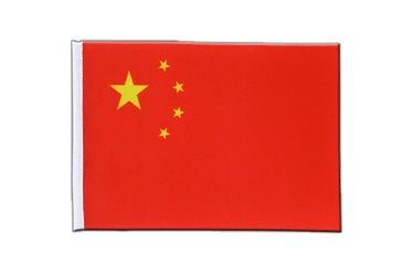 China Satin Flagge 15 x 22 cm