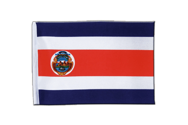 Costa Rica Satin Flag 6x9""