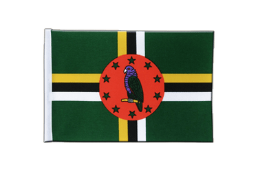 Dominica Satin Flag 6x9""
