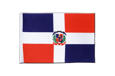 Dominican Republic Satin Flag 6x9""