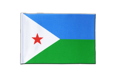Djibouti Satin Flag 6x9""