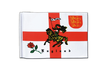 England with knight Satin Flag 6x9""
